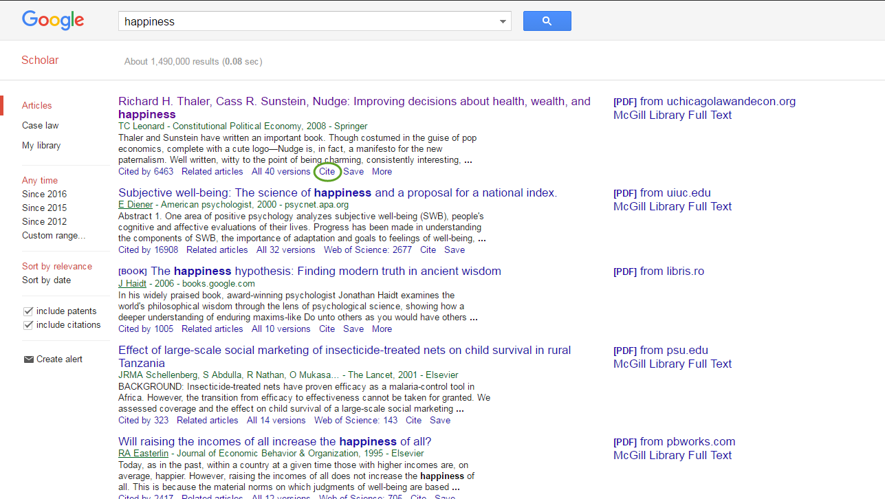 How Do I Export Citations From Google Scholar Mcgill