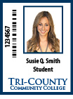 Example image of a  Student ID card
