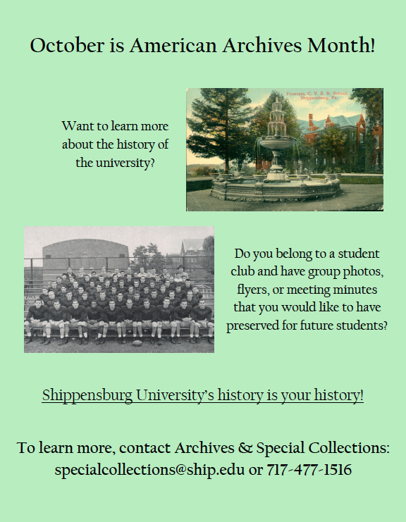October is Archives month - student flyer