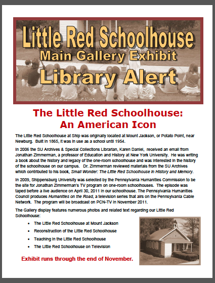 library alert image - Little Red Schoolhouse