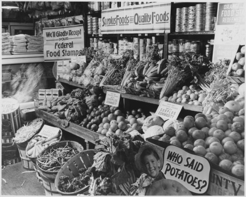 Produce Stand links to Docs Teach Primary Sources website