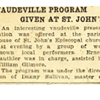 Vaudville Program Given at St John's