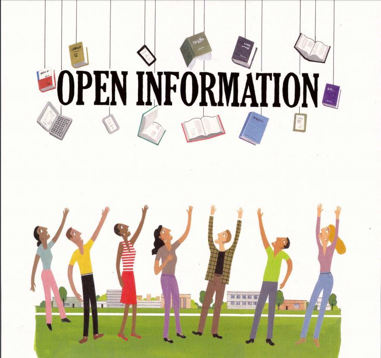 Open Information, graphic of books out of reach of students