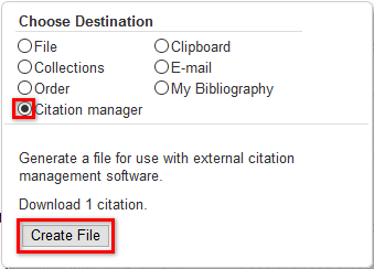 Choose Destination and Create File