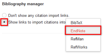 Google Scholar Bibliography Manager