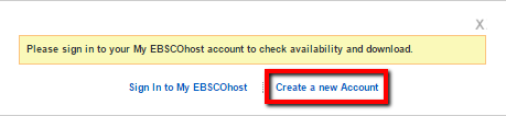 screenshot to create an EBSCO account
