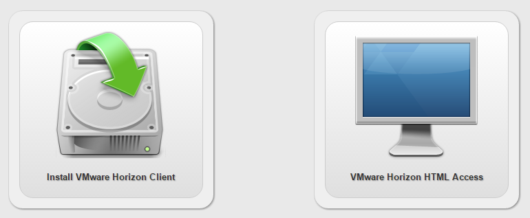 Screenshot of the 2 VMware clients