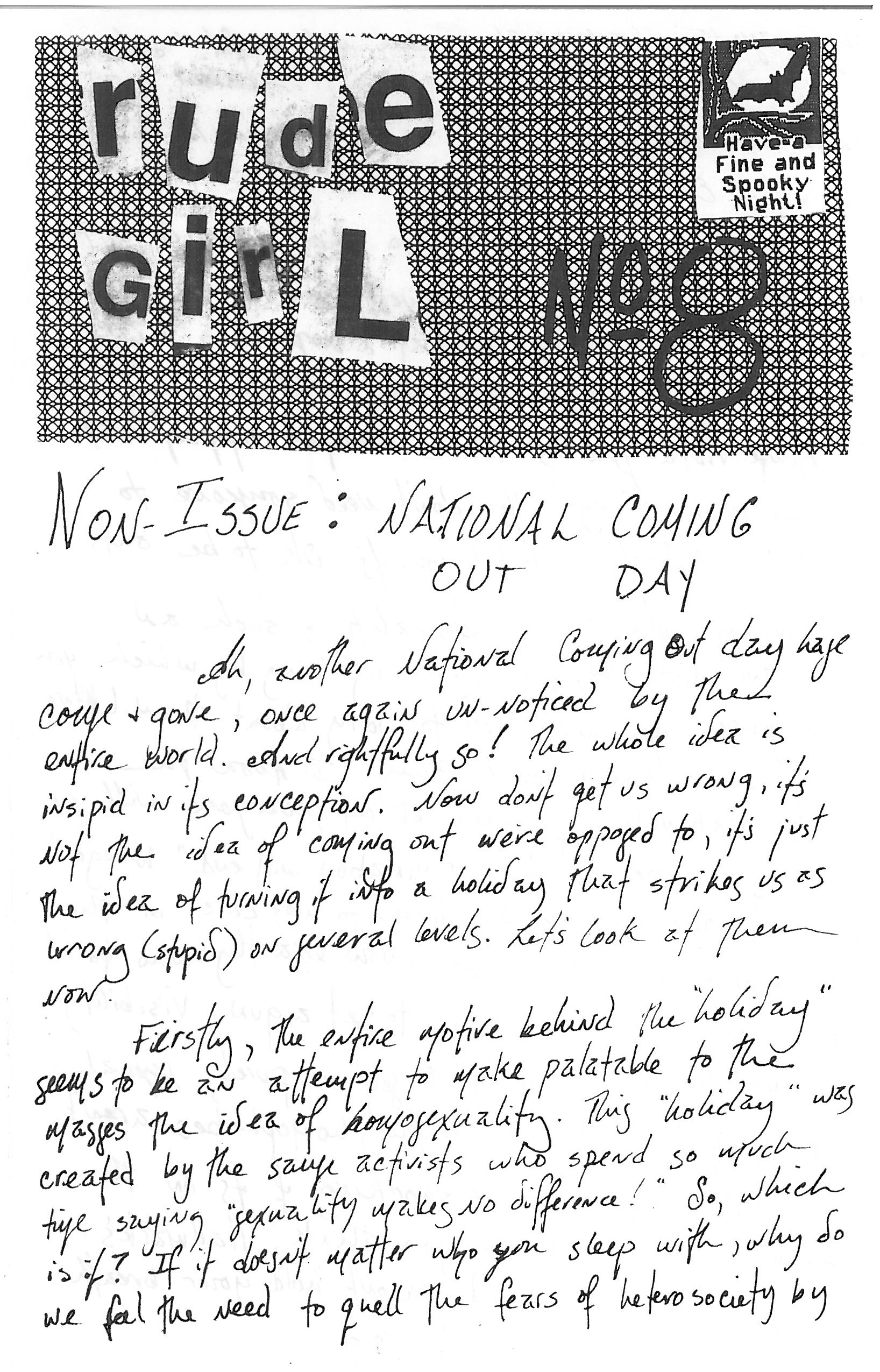 Issue No. 8 from Rude Girl Zine