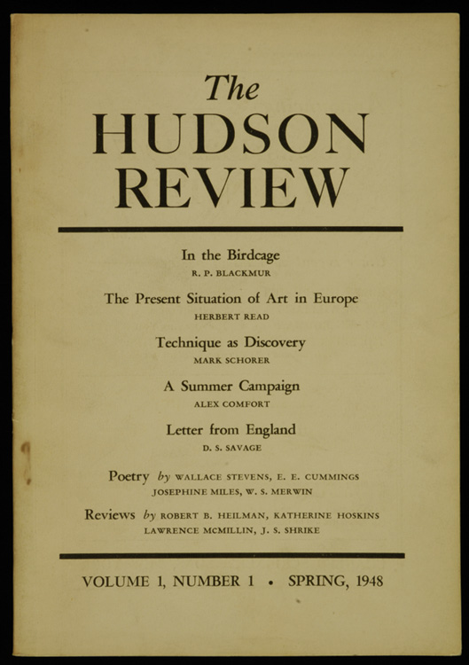 The Hudson Review brownish cover