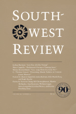 South-West Review cover – tan color with 90 in the lower right-hand corner