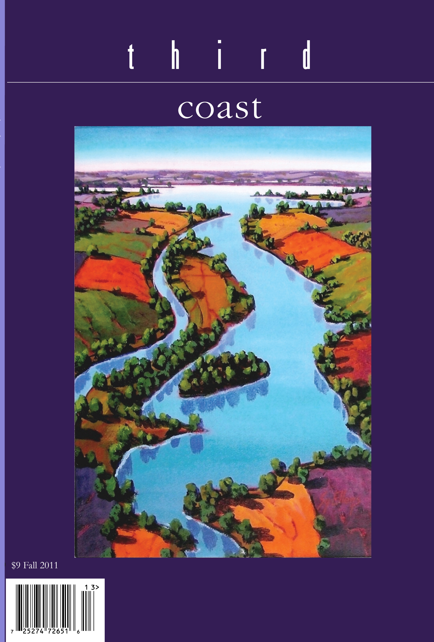 Third Coast cover showing picture of waterway with multicolored  land on either side