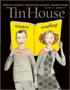 Tin House cover showing man and woman with winter reading