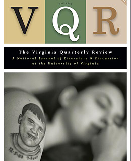VQR, the Virginia quarterly review cover showing tattoo on woman