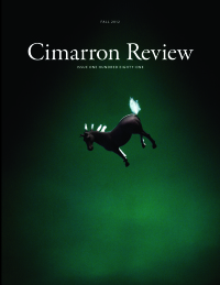 Cimmaron Review cover showing small horse against a green background
