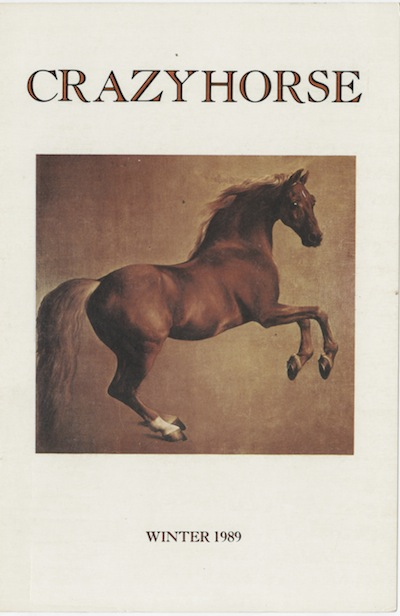 Crazyhorse cover with photo of brown stallion