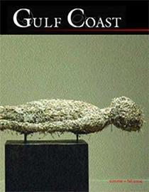 Gulf Coast cover showing sculpture of horizontally resting human figure apparently made out of shreds of some material