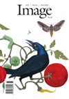 Image cover with artwork showing some kind of blackbird in what appears to be a tomato patch with some kind of  winged moth like insect above