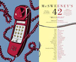 McSweeney's 42 cover showing a red  pushbutton telephone