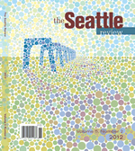 The Seattle Review cover: multicolored dots perhaps showing bridge abutments
