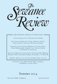 The Sewanee Review cover: black text on a baby blue background