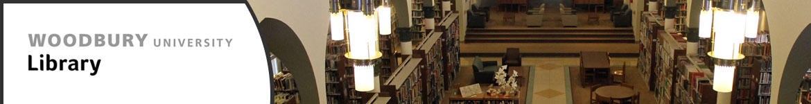 Banner image of library main space, view from loft