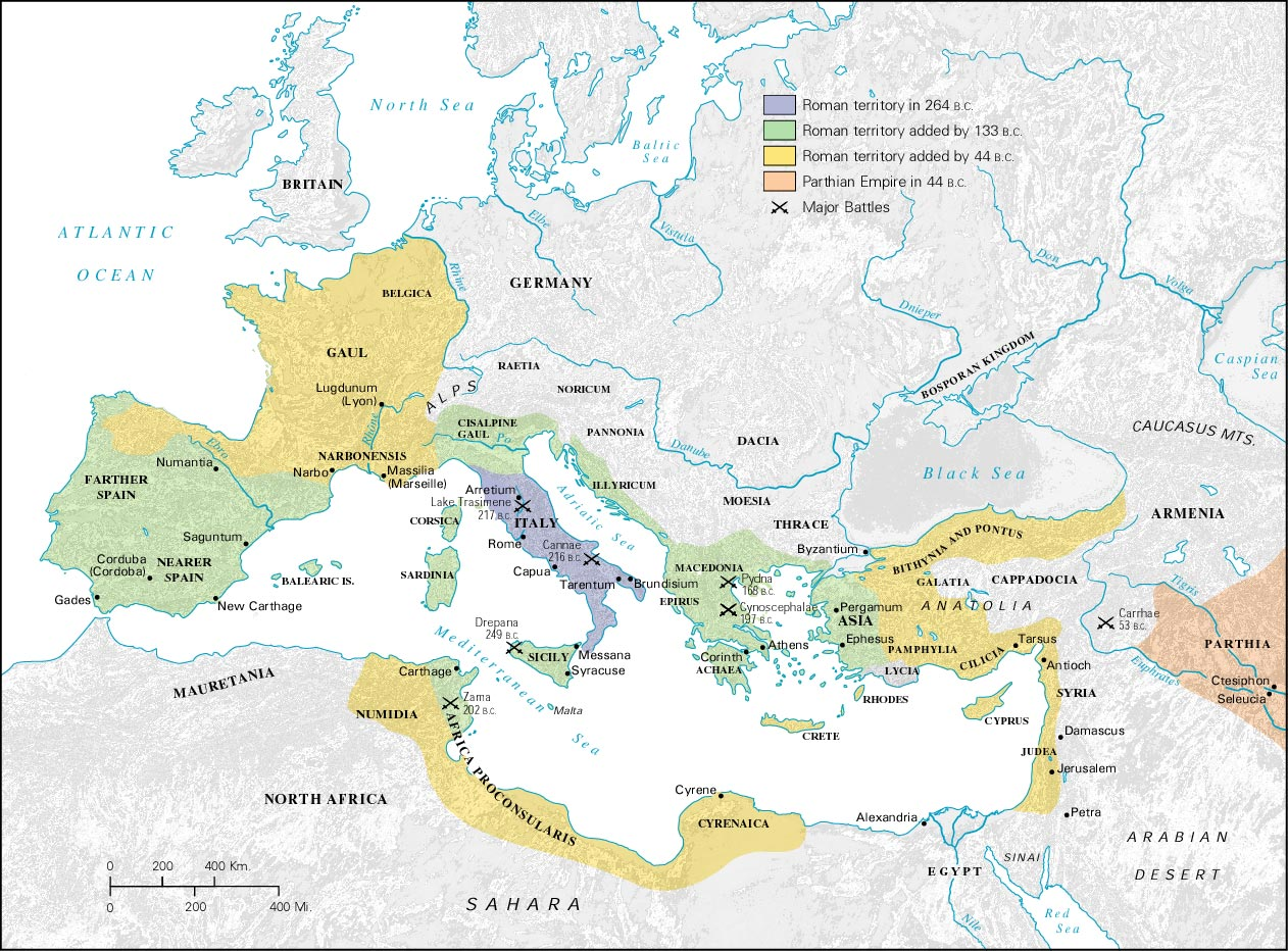Late Roman Empire Map.Roman History The Roman Republic Libguides For Library Schools