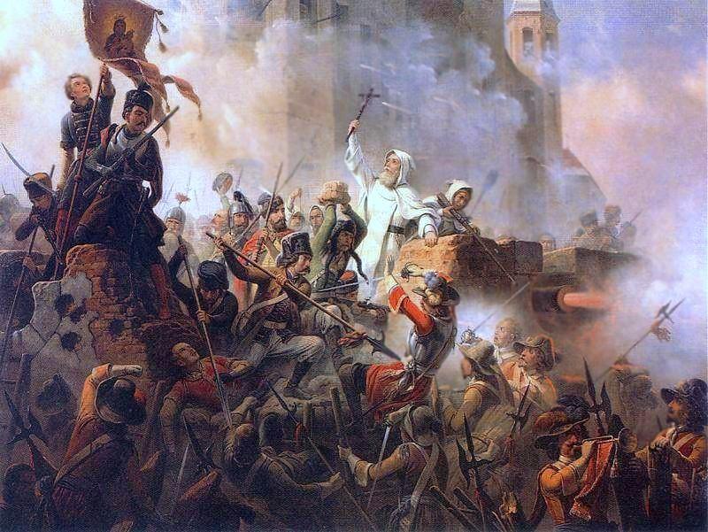 Obrona Jasnej Góry 1655 by January Suchodolski (painting)