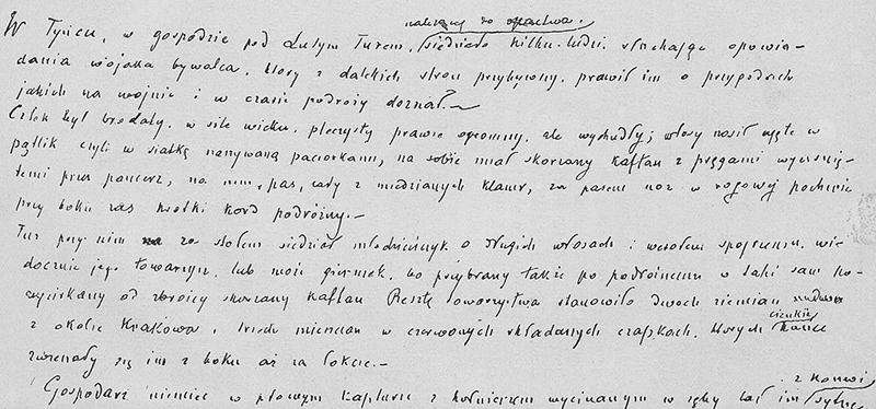 Manuscript of Krzyzacy