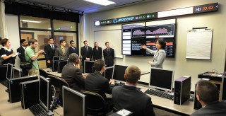 Bloomberg terminals in Bunce Hall