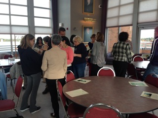 photo of teachers working together at Campbell Library workshop event