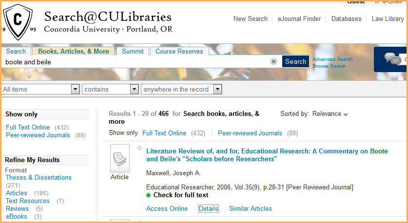 peer reviewed journals online