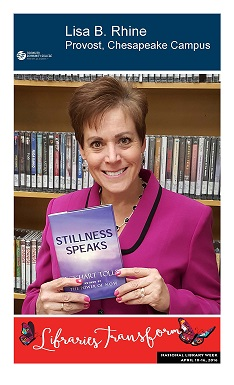 Provost Lisa Rhine - library poster
