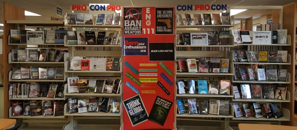 Library display on controversial topics