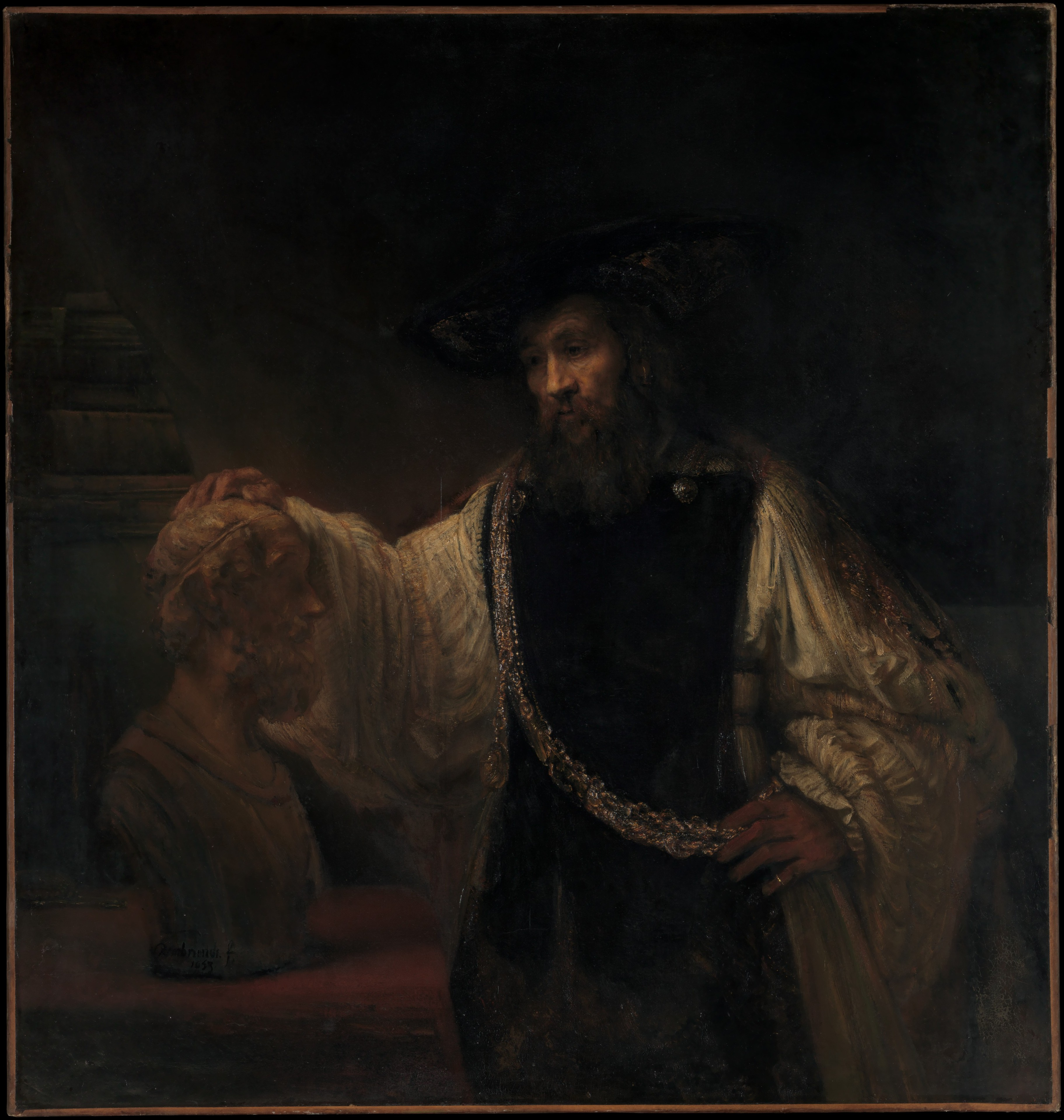 Rembrandt van Rijn, Aristotle with a Bust of Homer
