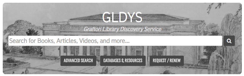 Search box on library's main web page