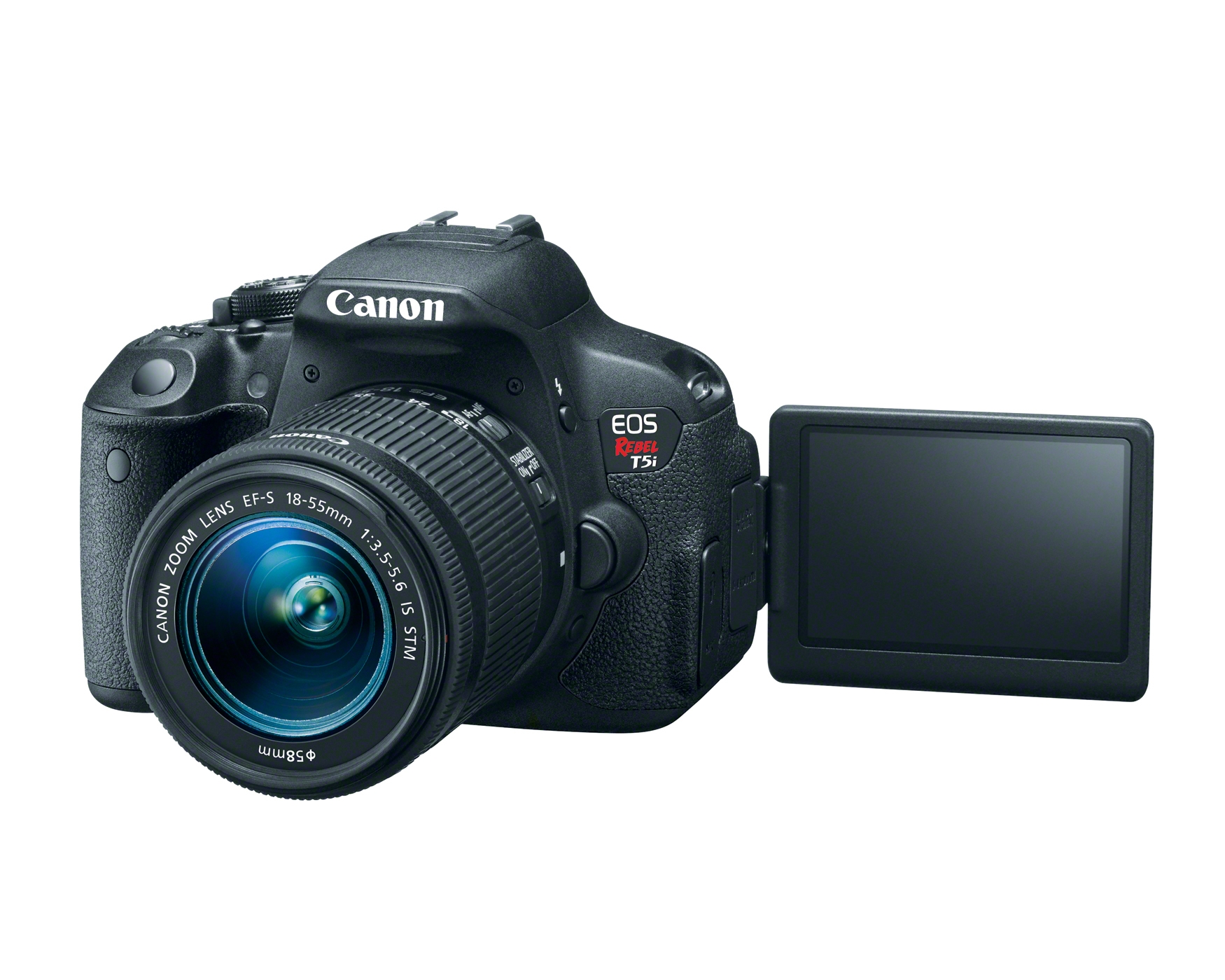 Photo of Canon Rebel EOS T5i camera that is available for checkout. Information about equipment follows the image.