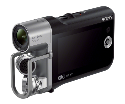 Photo of Sony HDR-MVI Camcorder available for checkout. Details follow the image.