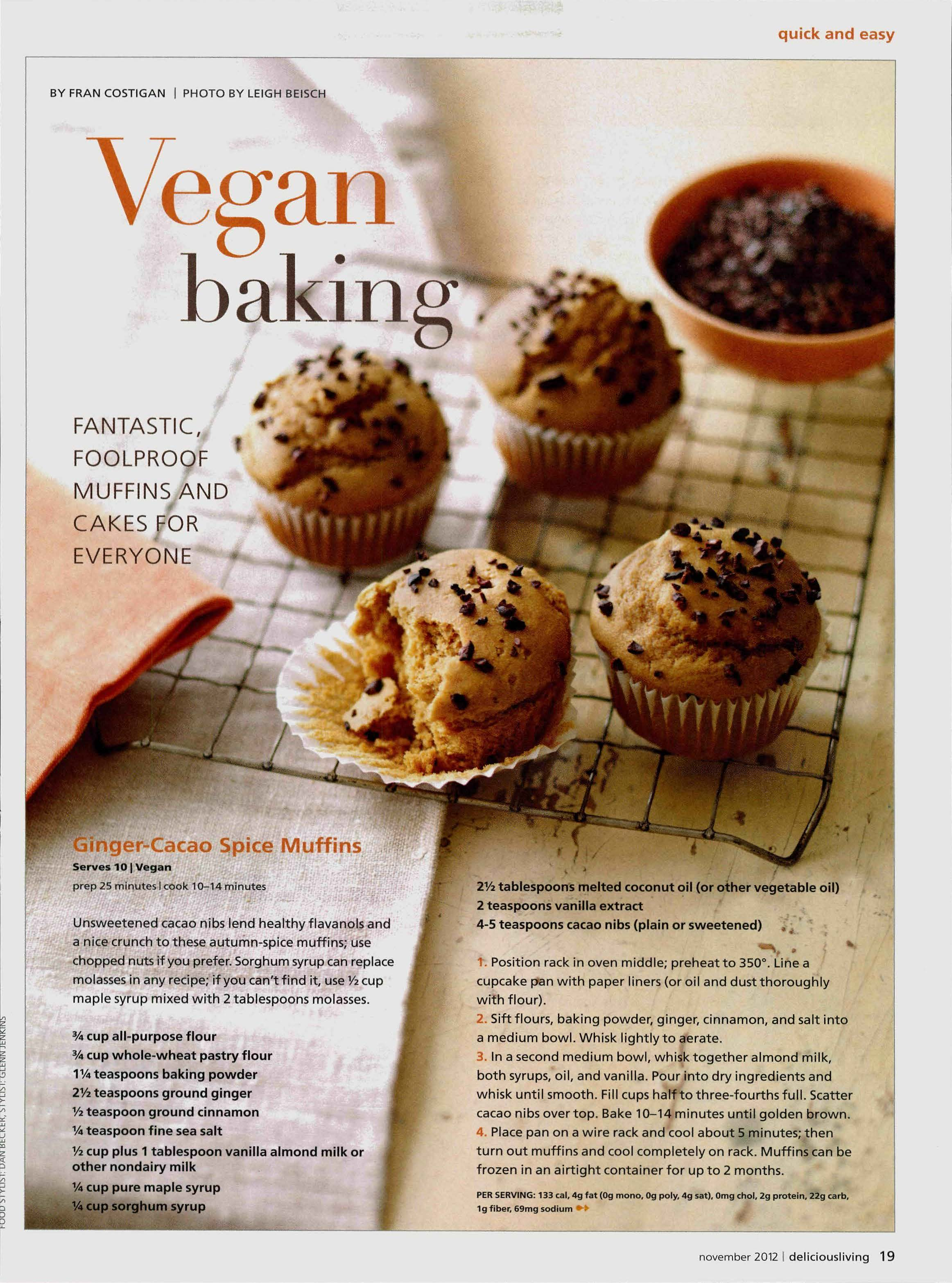 Magazine articles vegan baking libguides for library schools at delicious living forumfinder Choice Image