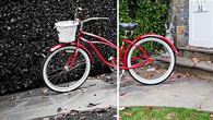A bike with and without Photoshop