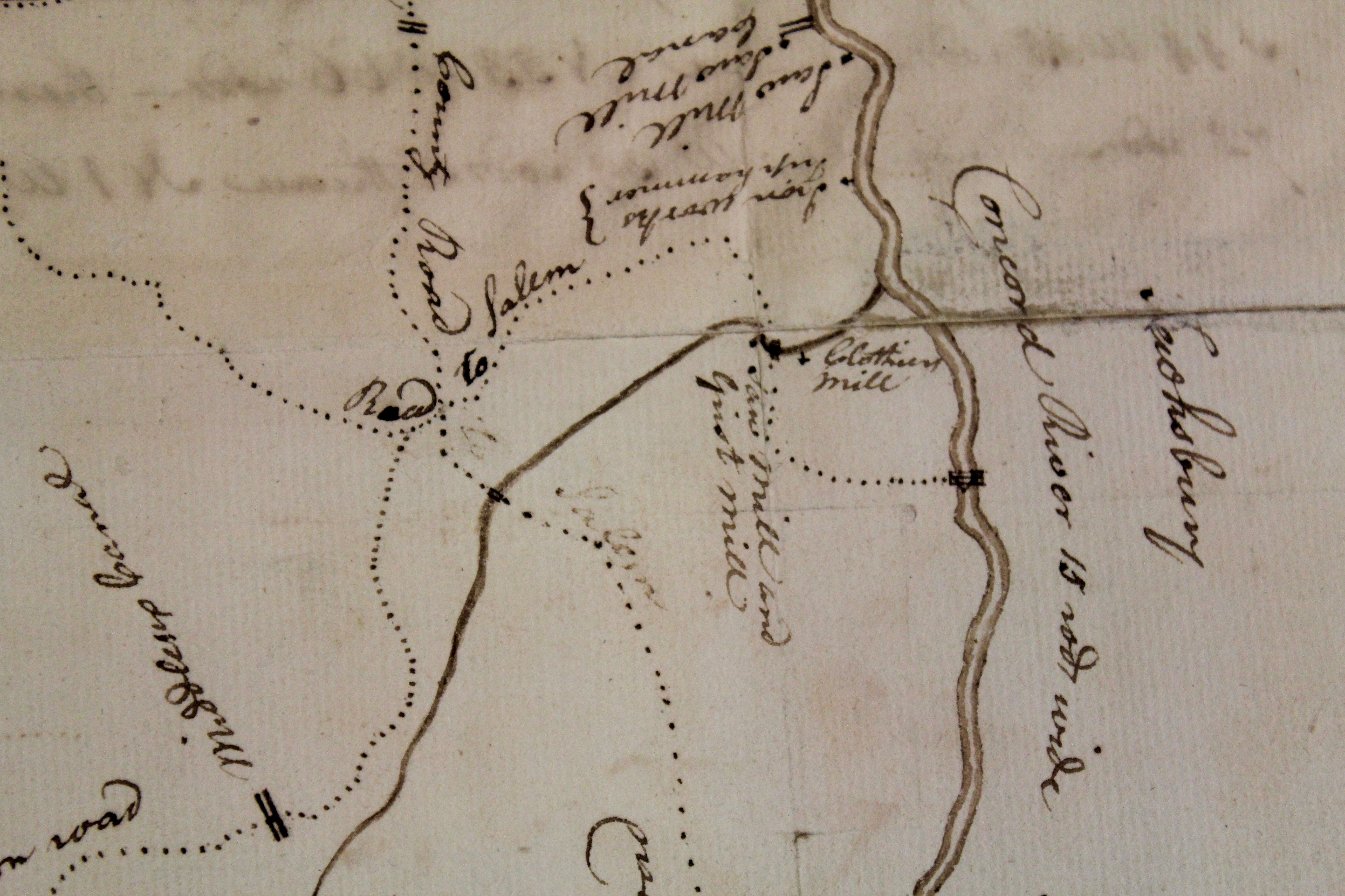 Map of Chelmsford in 1794 Gallery The Town the City Lowell