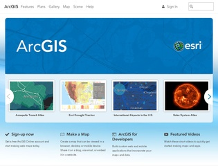 ArcGIS Desktop Website Screenshot