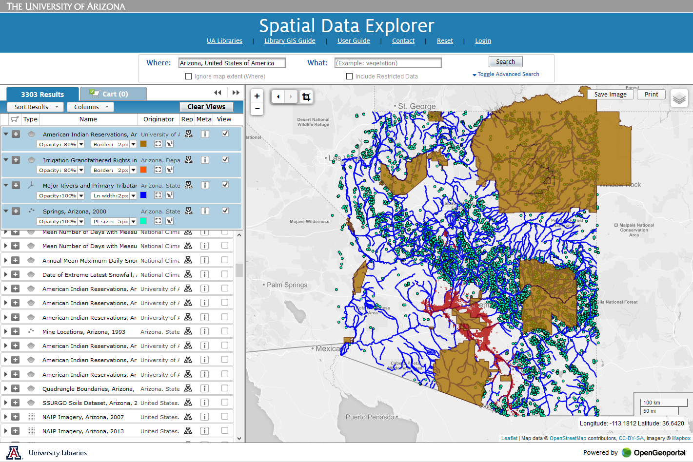 Spatial Data Explorer Screenshot
