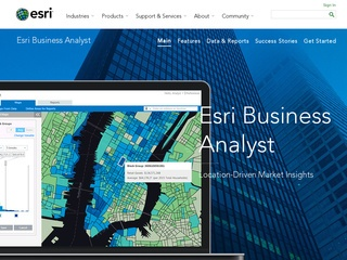 Esri Business Analyst Online Website Screenshot