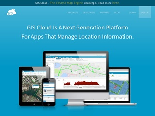 gisCloud Website Screenshot