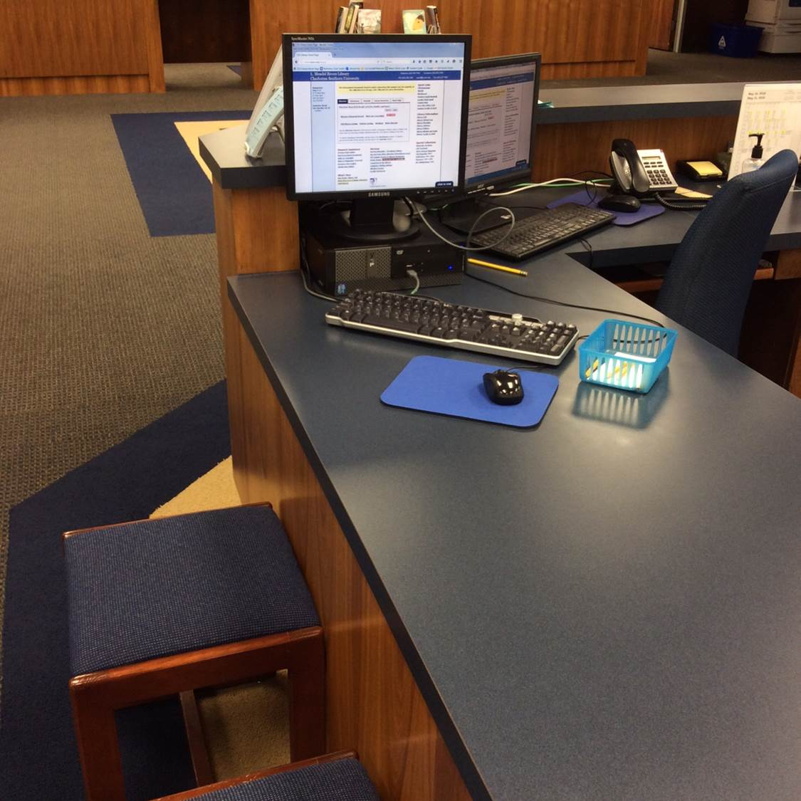 Photo of Questions Desk Reference Station
