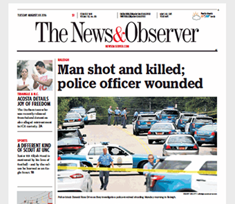 The News and Observer Frontpage