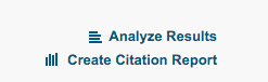 "screenshot of ""create citation report"" option in web of science"