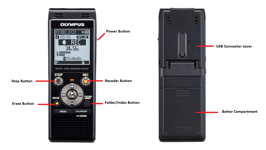 olympus digital voice recorder manual ws 853