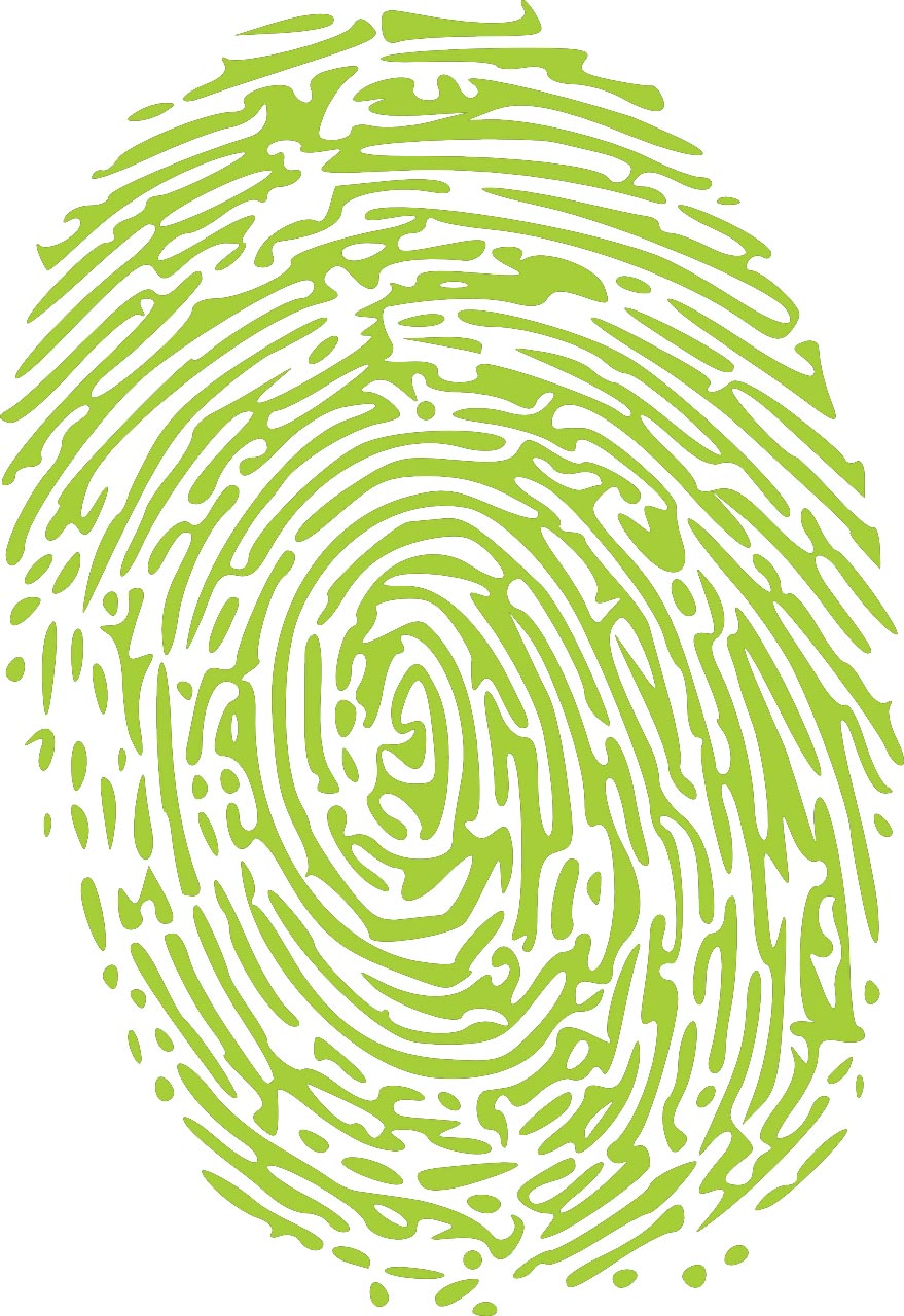 lime green fingerprint