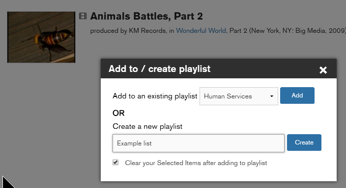 Either create a new playlist or add to one you have on your account